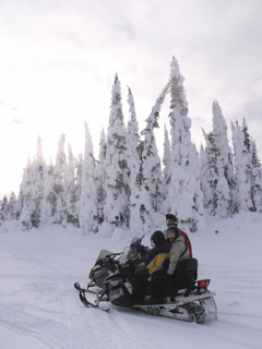 Snowmobiling at Silver Star Mountain Resort