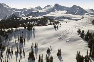 Whistler Mountain Skiiers, British Columbia.