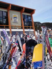 Ski and Snowboard Rack Sunshine Village, Alberta