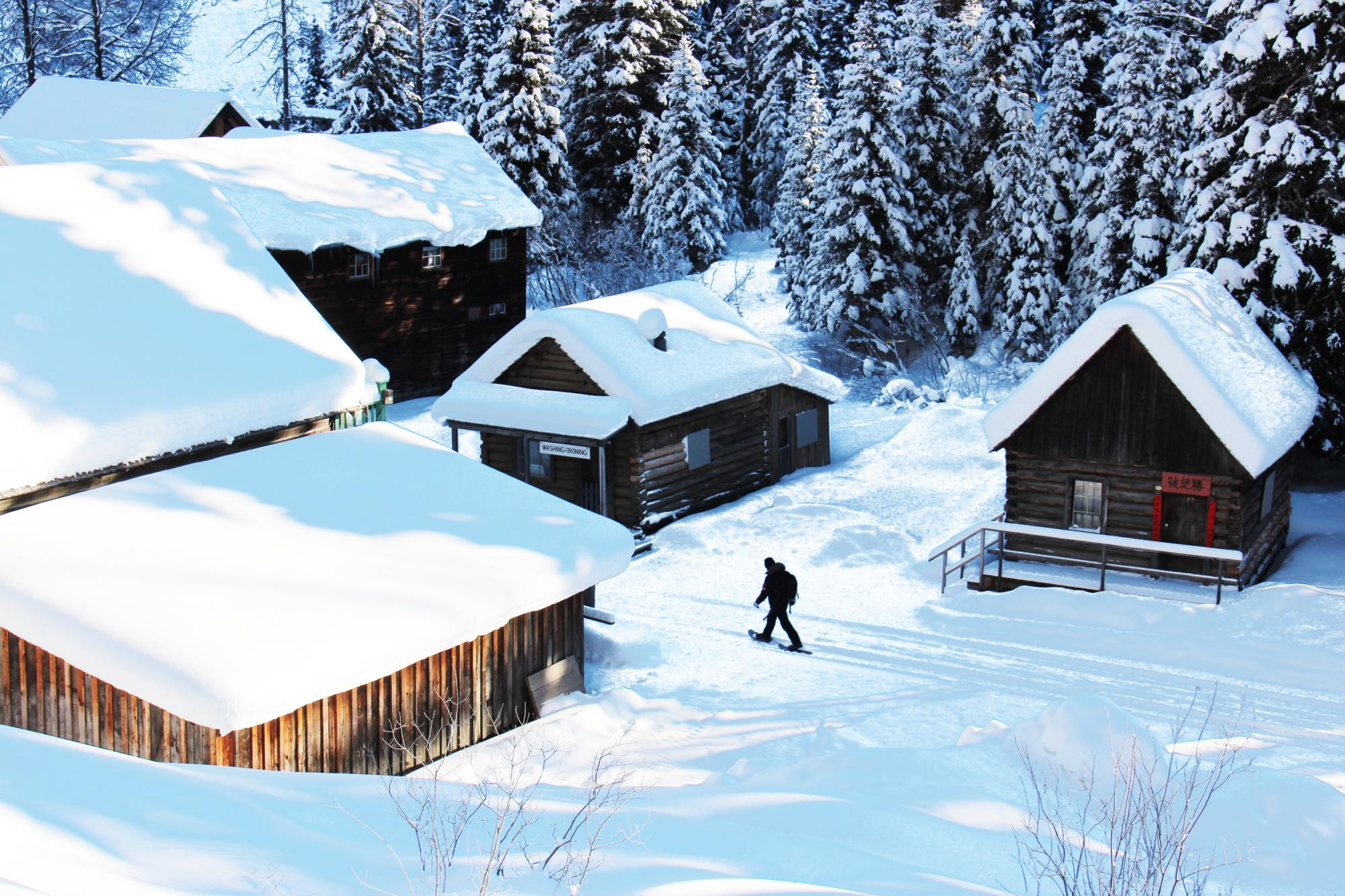 Snowshoeing in Barkerville