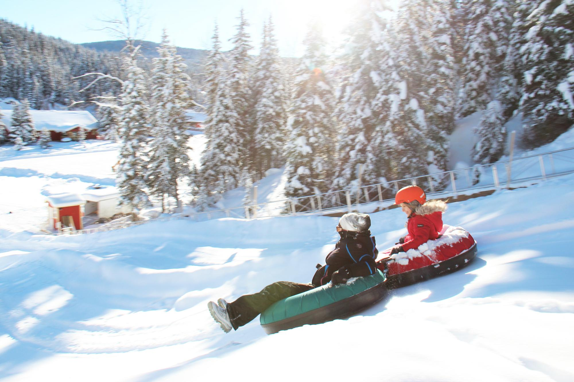 Tubing in Barkerville