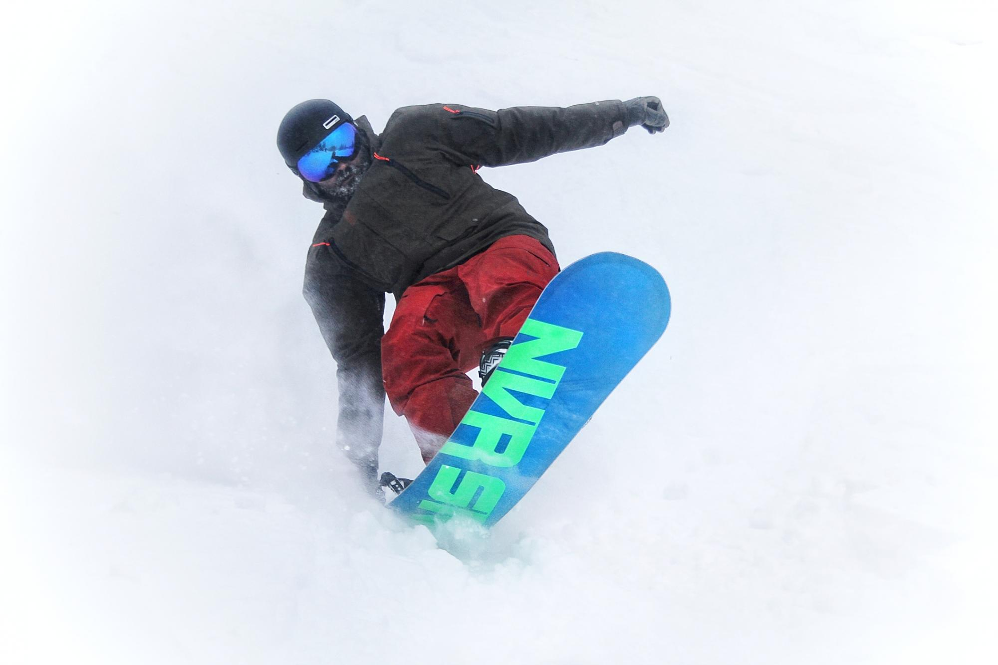 Snowboarding at Hudson Bay Mountain