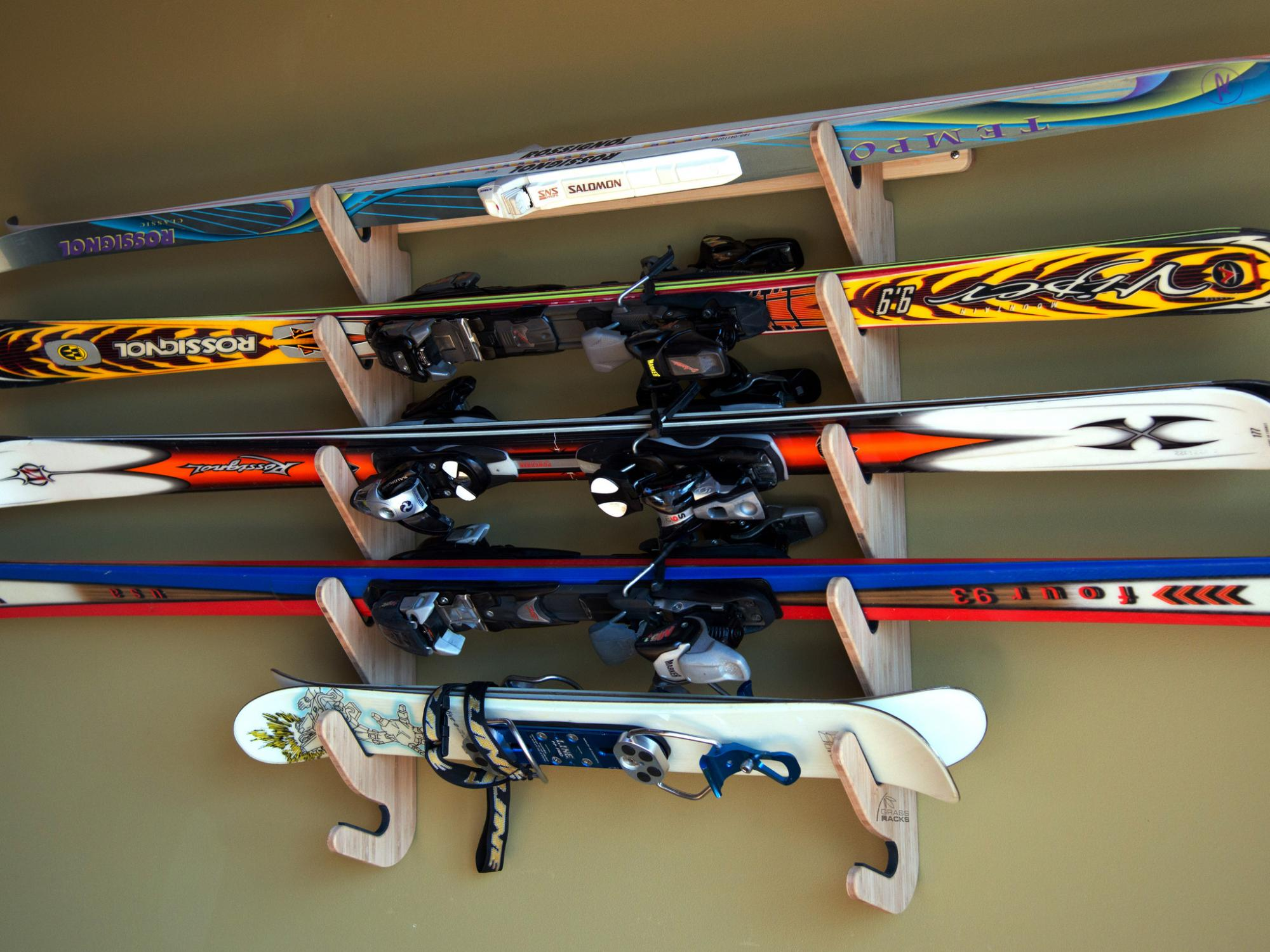 Storing Skis in a Garage