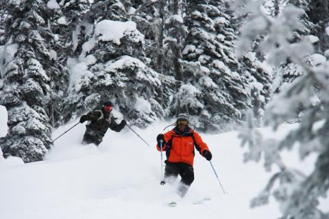 Skiing at Powder King